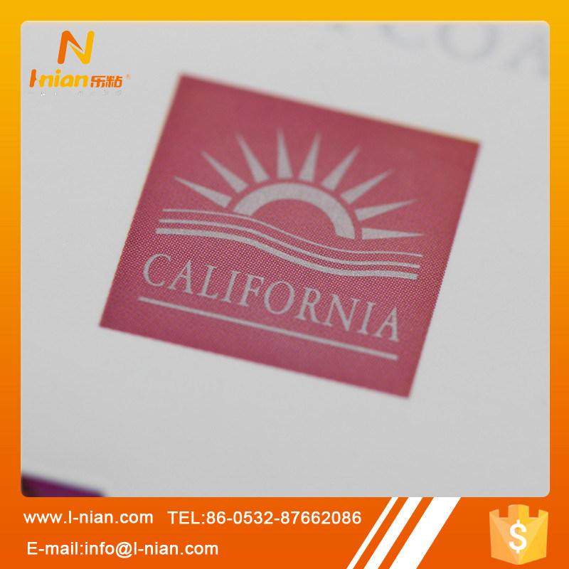 Custom Print Silver UV Varnishing Gold Foil Plastic Wine Labels
