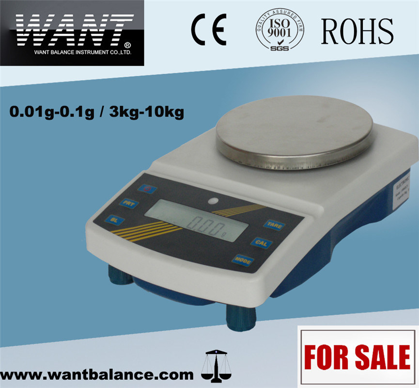 6kg 0.1g Automatic Bench Scale with Sst Pan