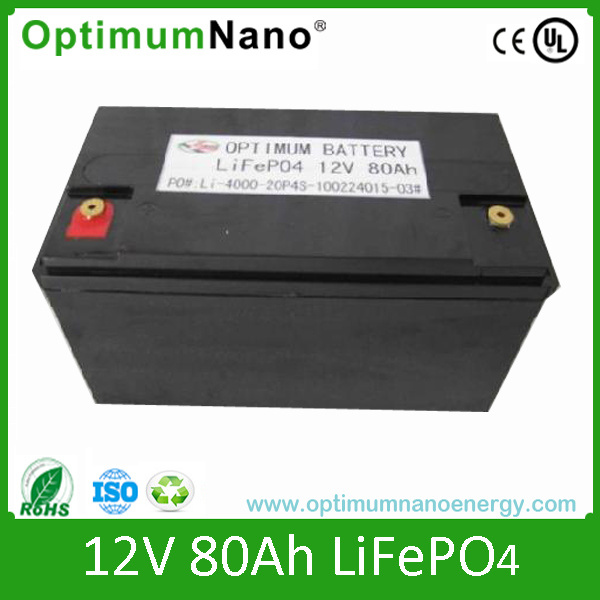 12V 80ah Solar Lithium Ion Battery