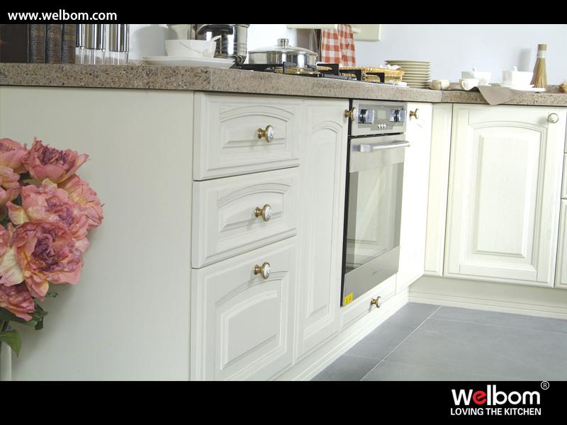 2015 Welbom Hot Sale Classic Solid Wood Kitchen Furniture