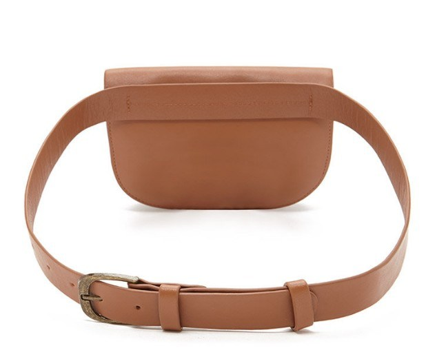 Water Base-Faux Leather PU Vintage Fanny Pack Designer Handbag (LDB-015)