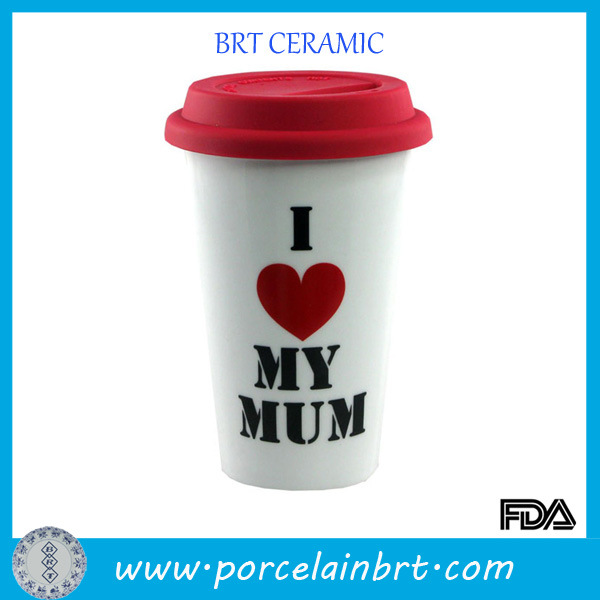 Gift for Mum White Ceramic Travel Mug