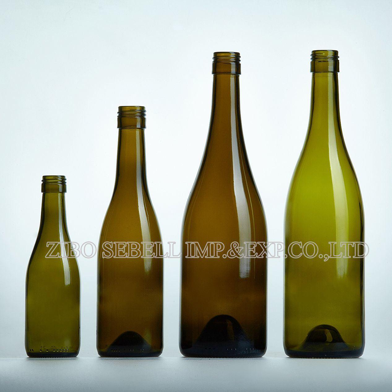Burgundy Bvs Screwtop Antique Green Red Wine Glass Bottle (04-glass bottle)