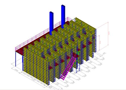 Muti-Layer Platform, Warehouse Mezzanine Rack, Mezzanine, Rack