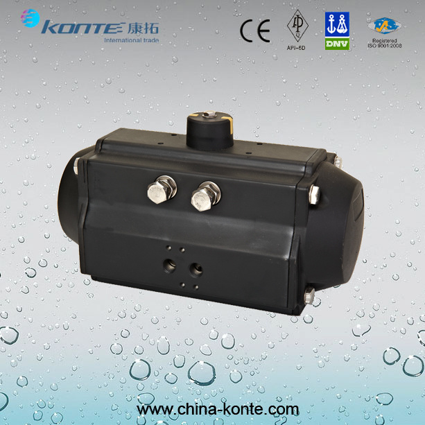 at Rack and Piston Pneumatic Actuator with Double Acting