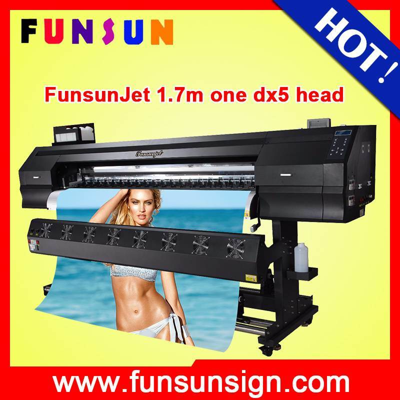 Big Discount Price Funsunjet Fs-1700k Eco Solvent Printer with Epson Dx5 Head 1440dpi