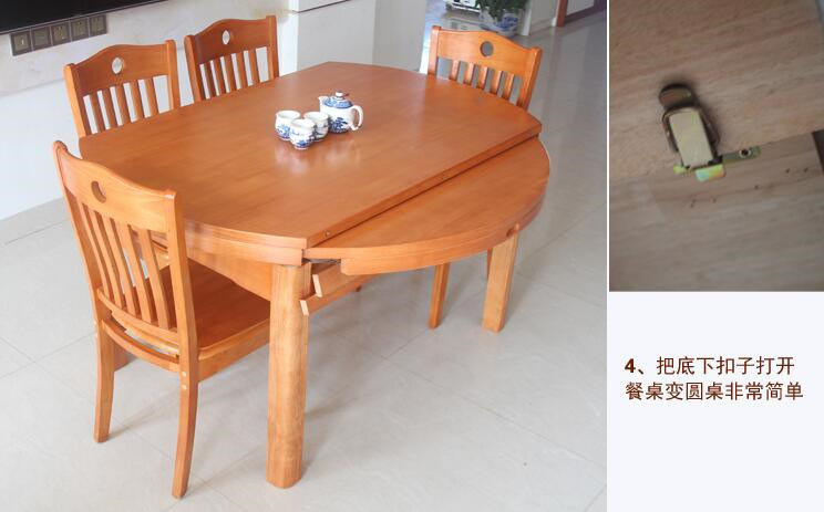 Solid Wooden Dining Desk (M-X2155)