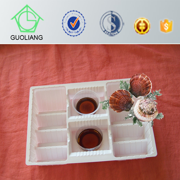 Custom Food Packaging Tray Manufacturer Plastic Oyster Serving Platter for Oyster Packaging