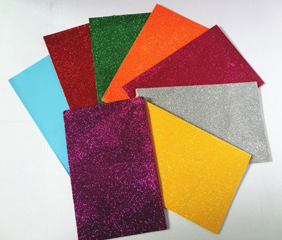 China adhesive glitter craft foam sheet for kids handmade for Soft foam sheets craft