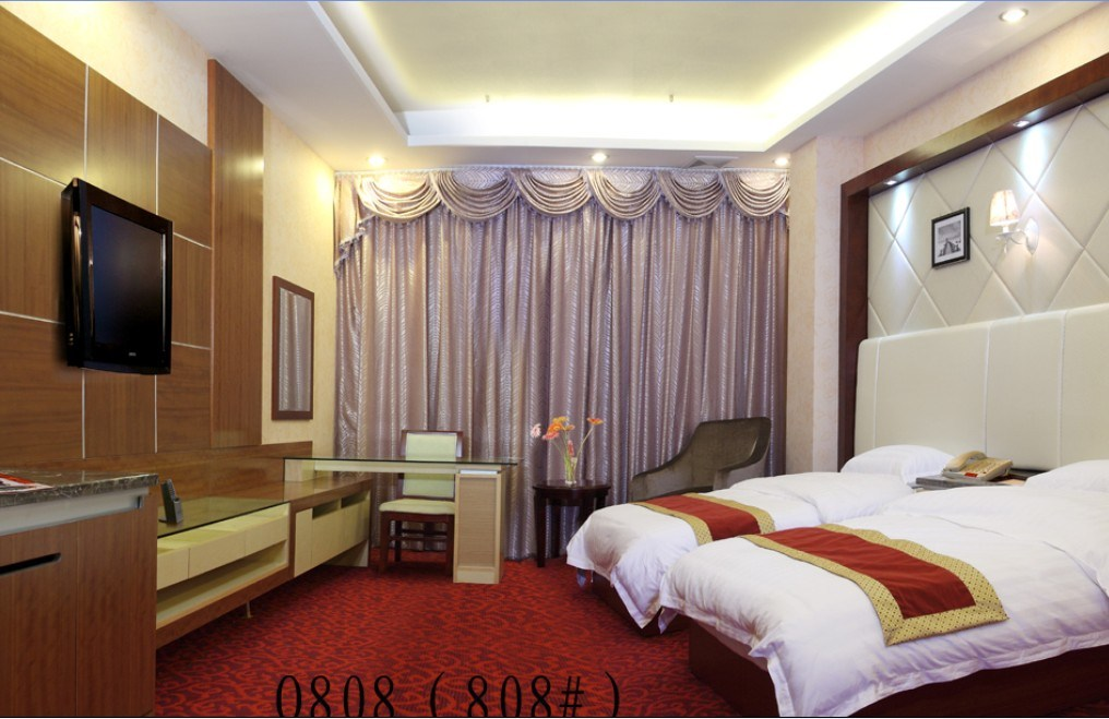 Hotel Bedroom Furniture/Luxury Double Bedroom Furniture/Standard Hotel Double Bedroom Suite/Double Hospitality Guest Room Furniture (CHN-004)