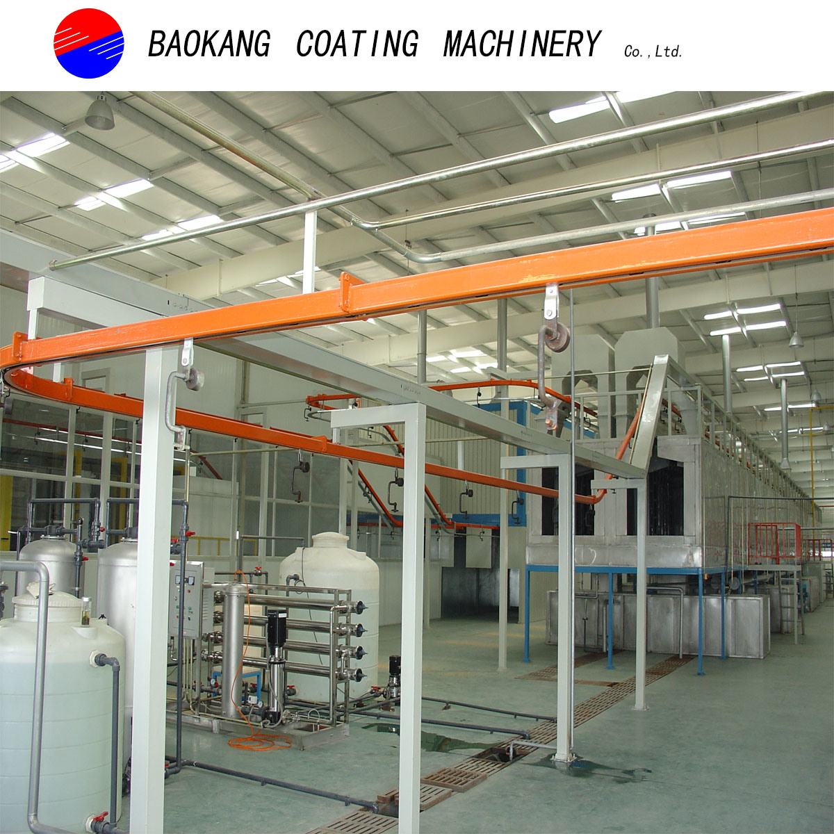 Automatic Powder Coating Line with PT (pre-treatment clean system) System