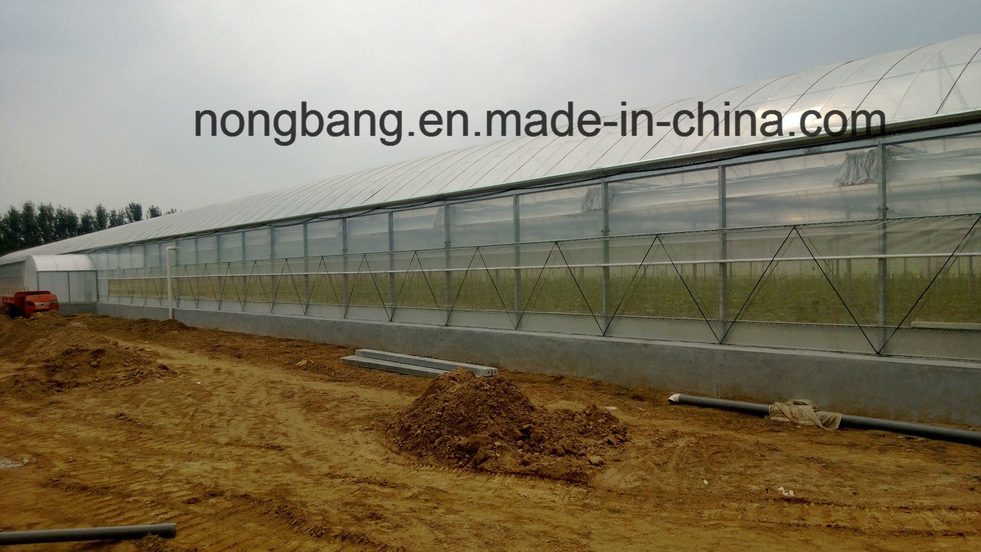 Vegetable Used Plastic-Film PC Greenhouse for Sale