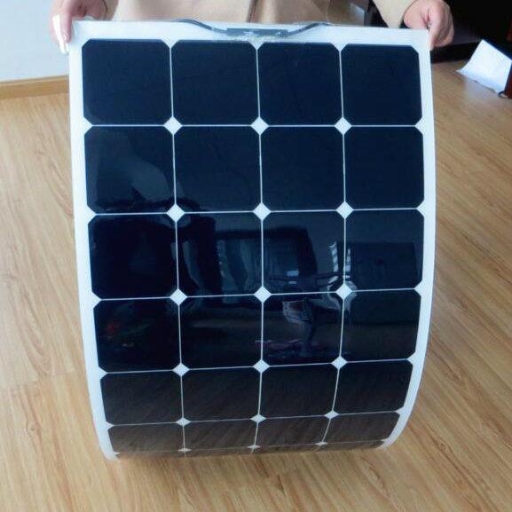 100W 18V Solar Energy Semi Flexible Solar Panel Sunpower Solar Cell Cutting