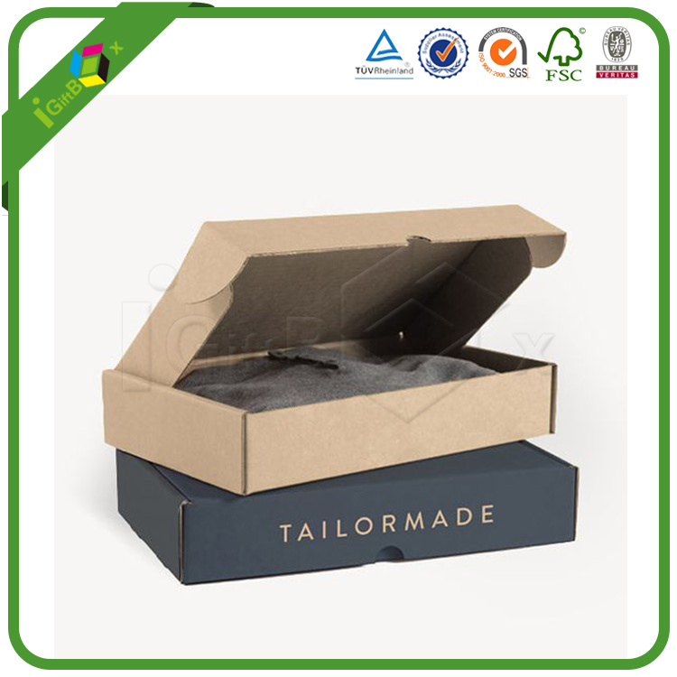 Custom Gift Packaging Shipping Corrugated Carton Mailer Mailing Cardboard Box for Jewelry / Clothes / Apparel / Shoes / Cosmetic / Perfume