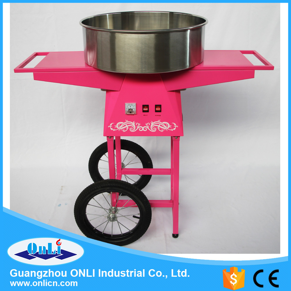 Professional Electric Automatic Flower Candy Floss Maker Cotton Candy Machine with Cart Price