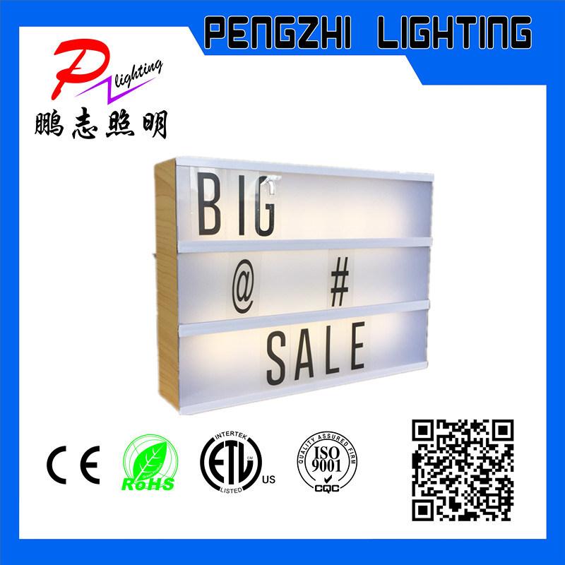 ABS Material Wooden Frame Advertising LED Light Box