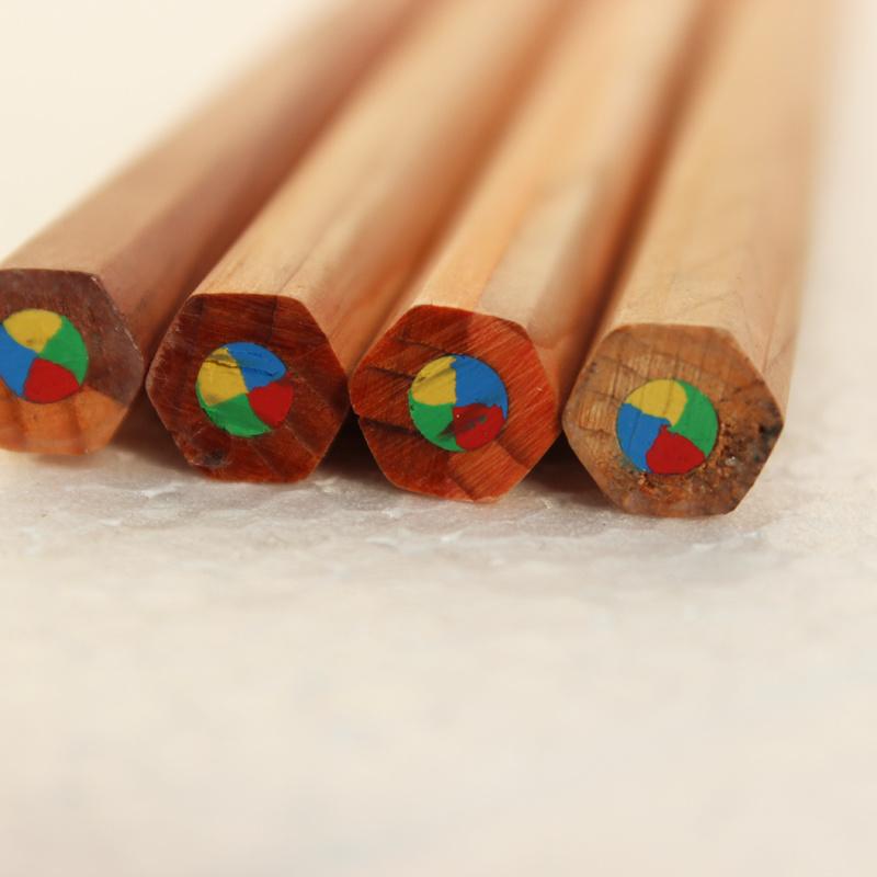 Jumbo Size Multi Color Pencils, 4 in 1 Color Pencils