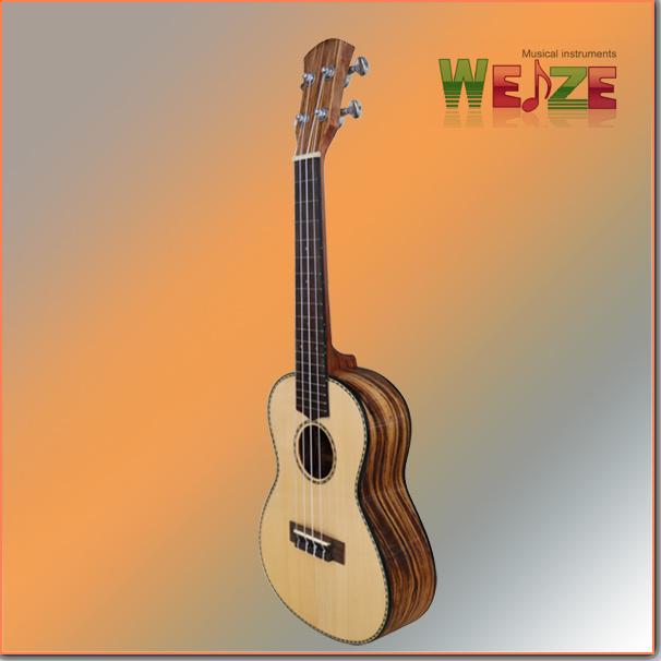 Hot Sale Spruce+Zebrawood Plywood Ukulele