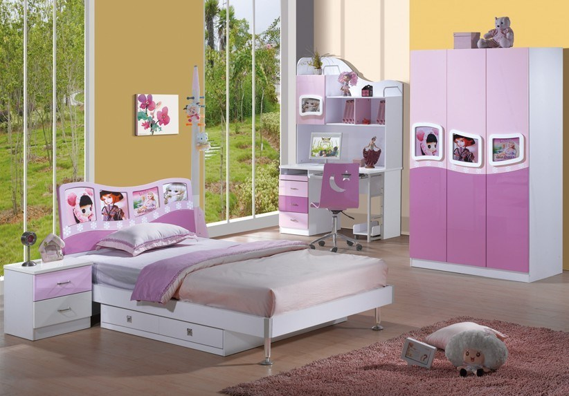children kids bedroom furniture set sofa bed wall unit