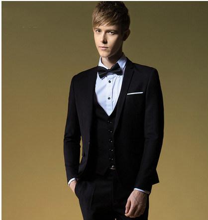 Men′s Balck Tuxedo Suit in New Fashion