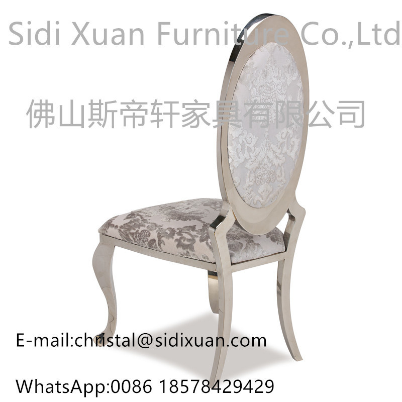 Hot Selling Event Style Hotel Banquet Chair Silver Stainless Steel Wedding Dining Chair