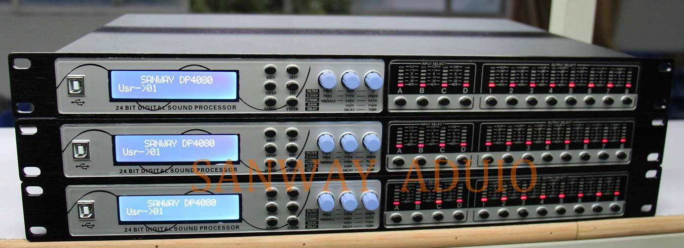 Dp4080 Professional DSP Sound Signal Speaker Processor