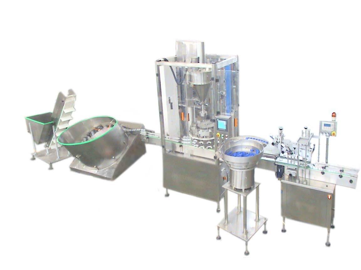 Automatic Powder Bottling Filling Machine