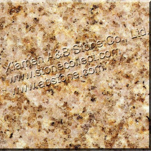 Rusty Yellow Granite G682 Granite Slabs & Tiles, Sunset Gold Granite