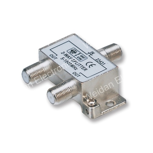 2 Way RF Splitter CATV/Sat Signal Distribution Splitter (WD20A-014)