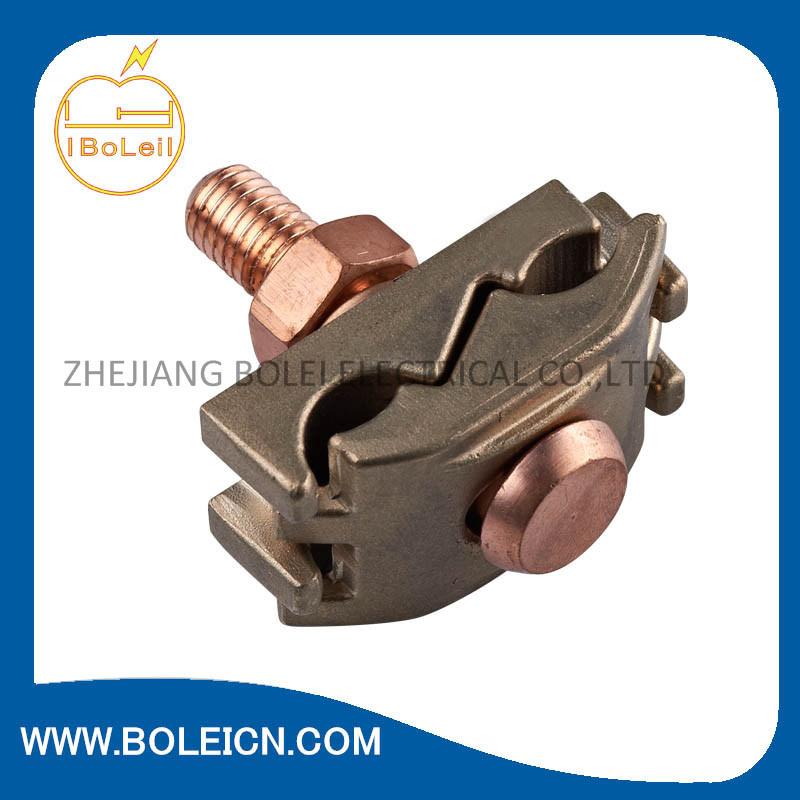 Bronze Bare Ground Clamp - Brass Screw