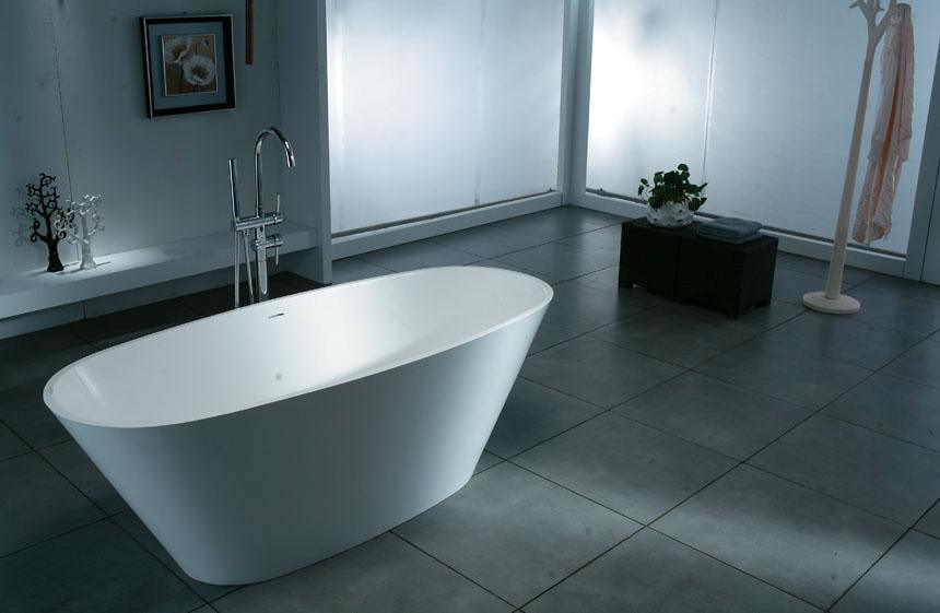 Free Standing Bathtub BS 8611 China Free Standing Bathtub Acrylic Solid