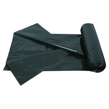 LDPE Black C Fold Heavy Duty Plastic Garbage Bag