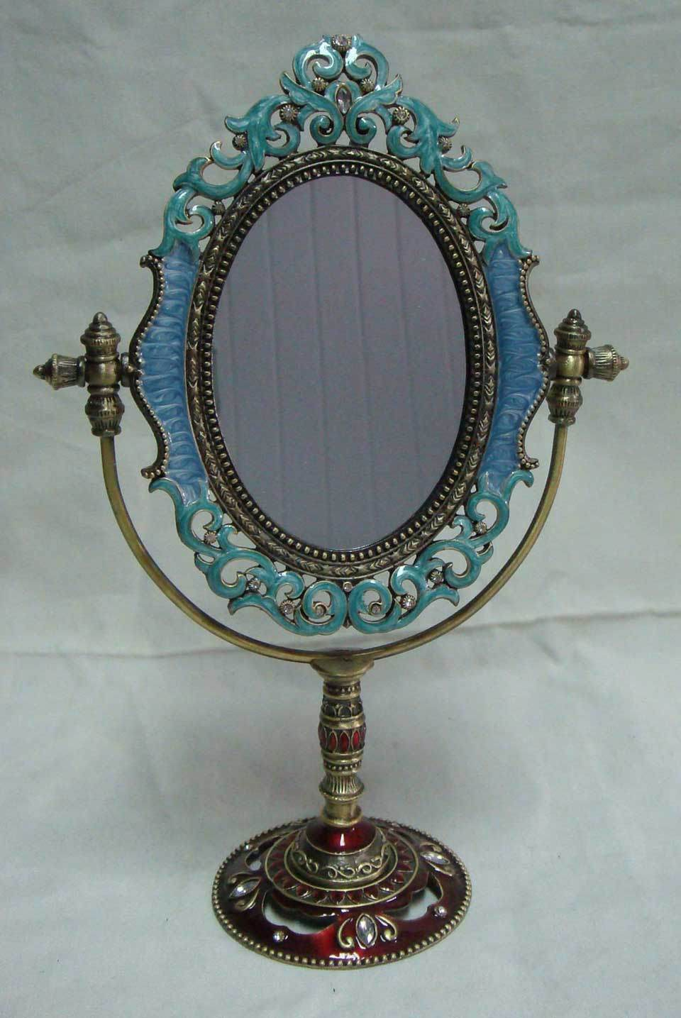 Incroyable Pewter Table Top Mirror (P07011A)