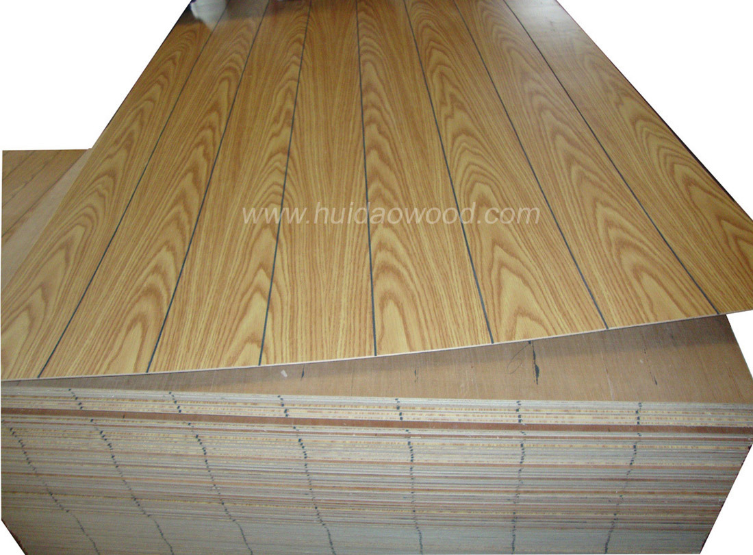 Paper Faced Plywood ~ China grooved paper overlay plywood