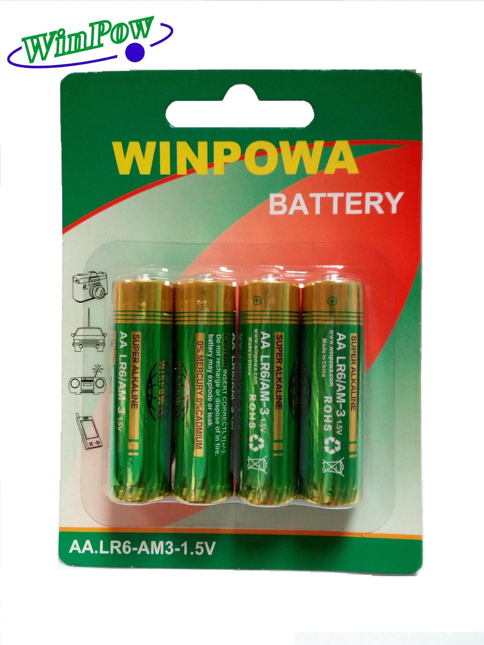 Super Power AA Size Alkaline Dry Battery