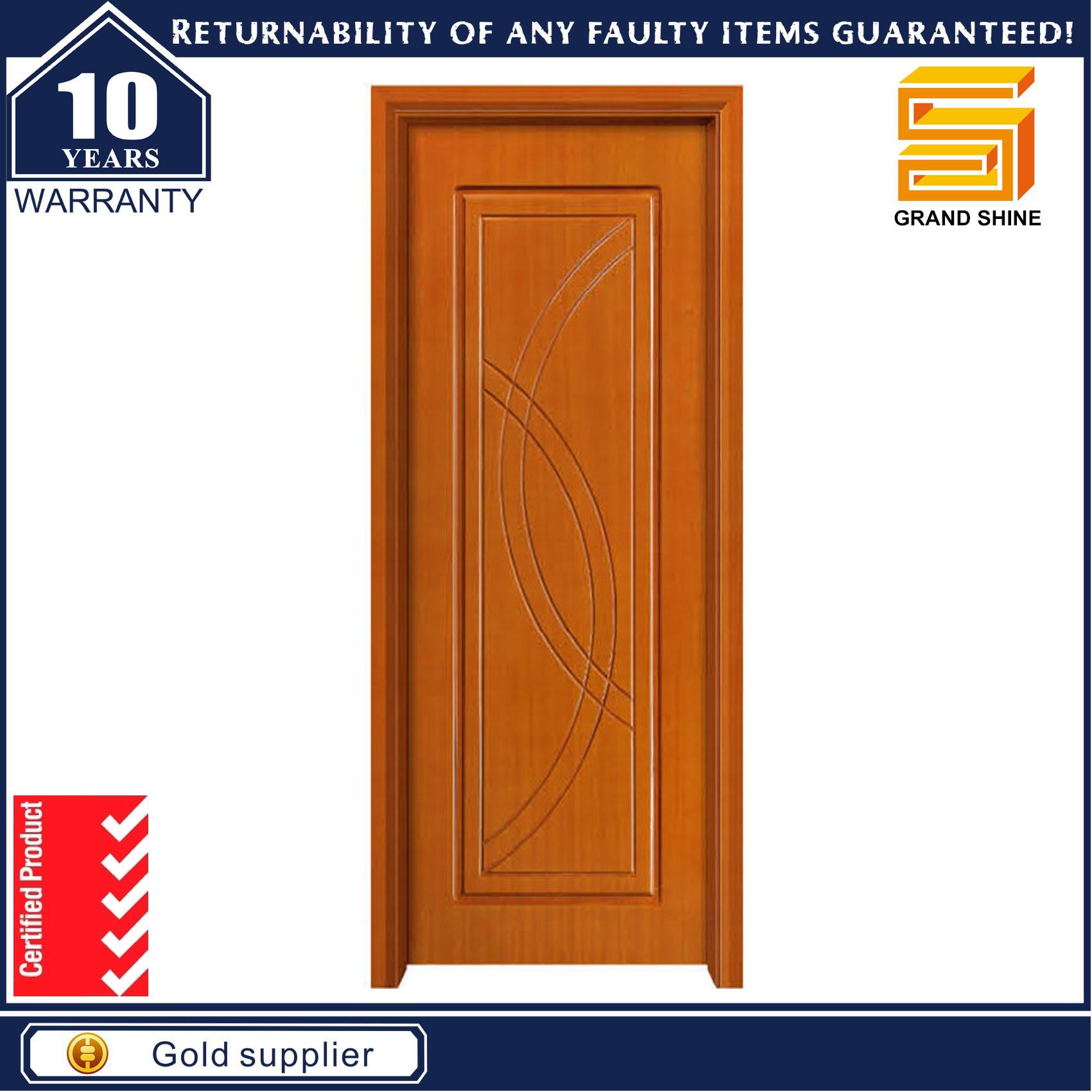 Wooden Interior Composite Wood Veneer MDF Panel Door