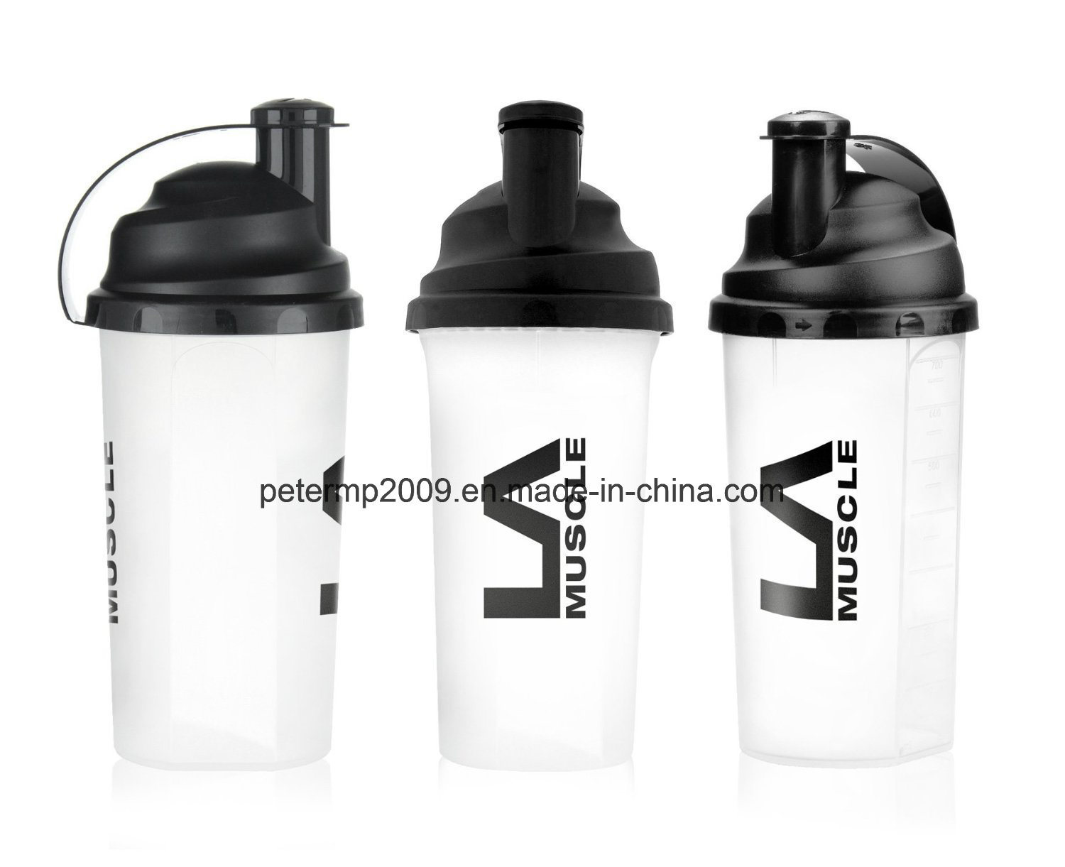 700ml 25oz Wholesale Custom Plastic Shaker Bottle, Plastic Cup for Cycling/Travel/Sport