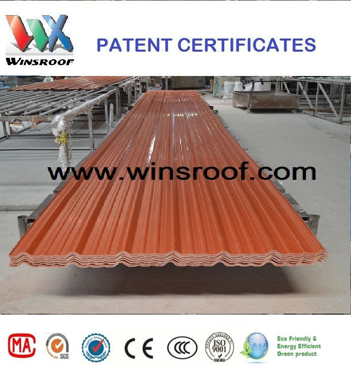 Wins 3 Layer UPVC Roof Tile with Color 1130 Width with 10 Years Warranty