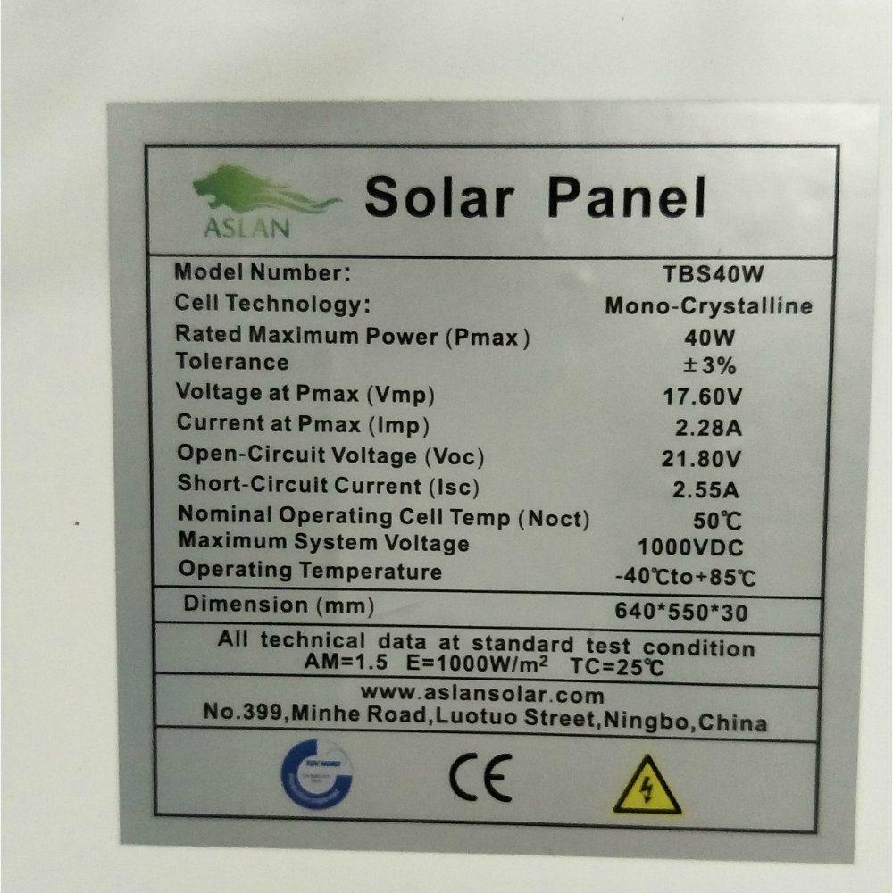 60W Mono PV Solar Panel for Solar Lamp Solar Home System