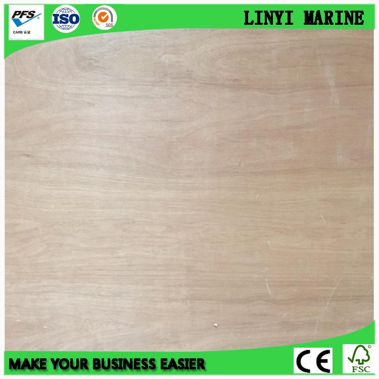 1250*2500mm Bintangor Face Plywood E1 Glue AAA Grade