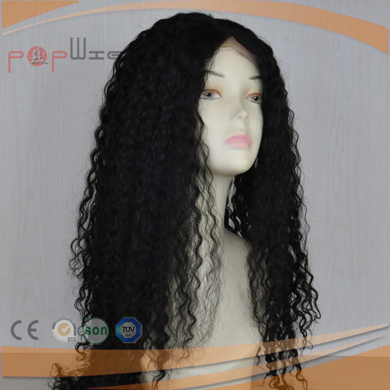 Afro Curly Long Human Virgin Hair Full Lace Front Women Wig