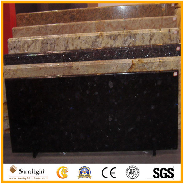 Flat/Laminate/Bullnose/White/Green/Blue Granite/Marble/Quartz Stone Vanity/Table/Island Counter Tops for Kitchen or Bathroom
