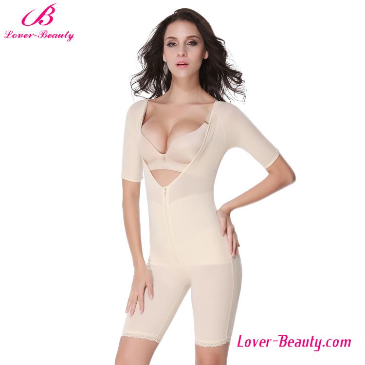 Powerful Modern Nude Deep V-Neck Zipper Body Shapers for Women