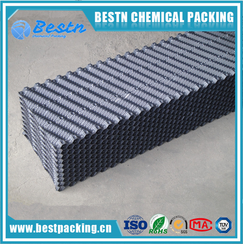Ladder Shape PVC Cooling Tower Infills for Packing Media Plastic Sheets Pack