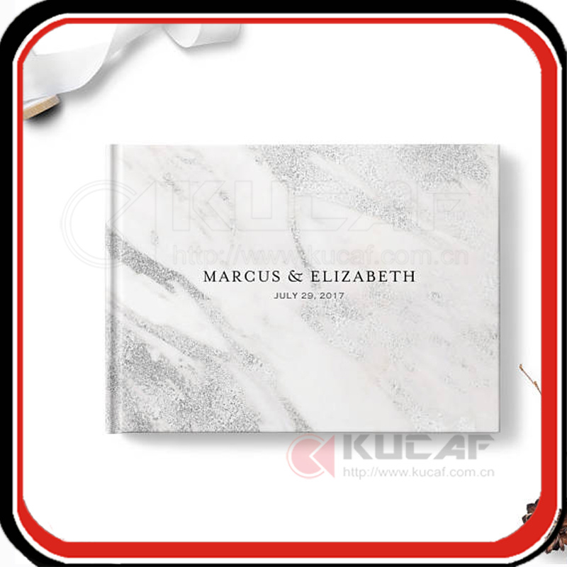 Custom Marble Wedding Book Guest Notebook