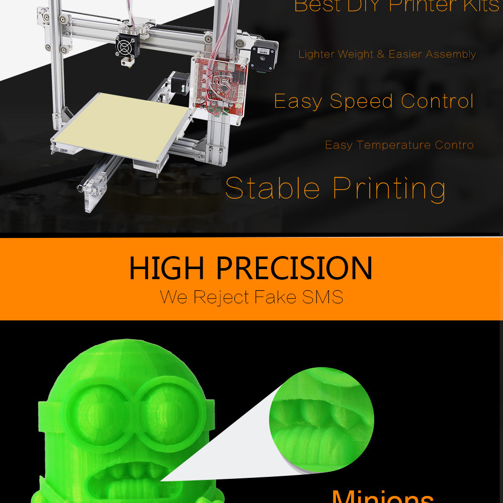 Anet A2 Metal 3D Printer with Auto Lever Function