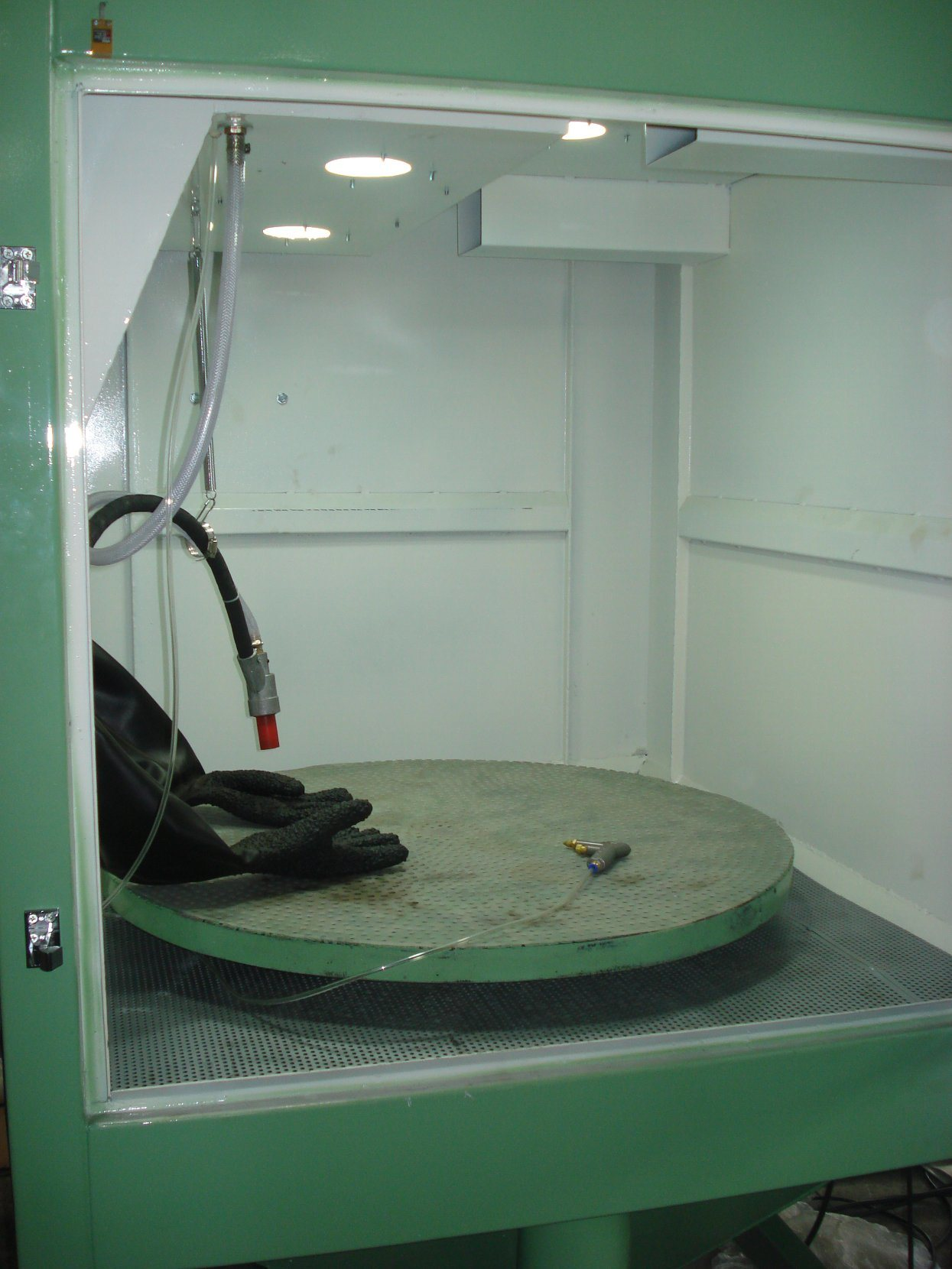 Manual Dry Wet Mould Jig Sandblasting Machine