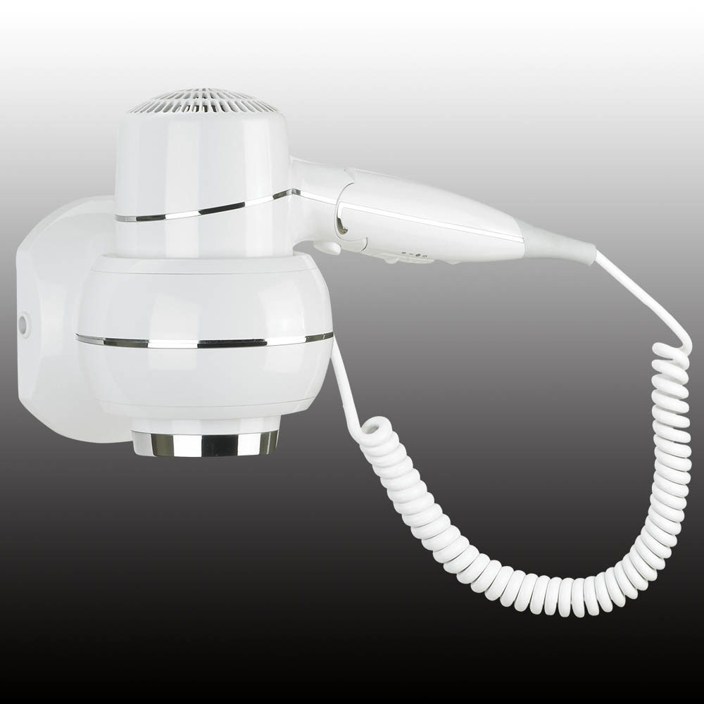 Professional White Wall Mounted Hair Dryer Hotel Bathroom Hair Dryer