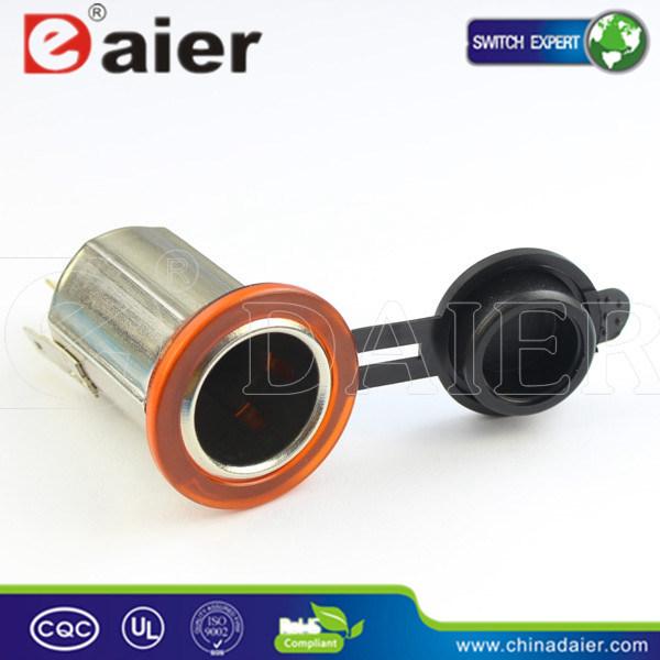 Daier Car Cigarette Lighter Socket with Cigarette Lighter Plug(Ds3004