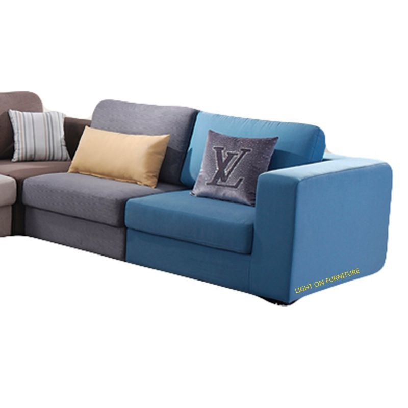 Colorful Fabric Sofa Combination for Living Room China (F811B)